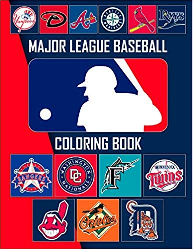 Major League Baseball Coloring Book: MLB Logos and Famous Players