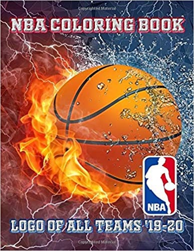 NBA COLORING BOOK / LOGO of all TEAMS '19-20 (Sports Series Charles Okurowski)