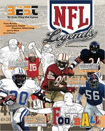 NFL Legends: The Ultimate Coloring, Activity and Stats Football Book for Adults and Kids